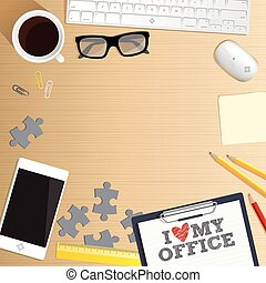 Vector de la mesa de oficina