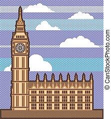 Vector de la torre del reloj