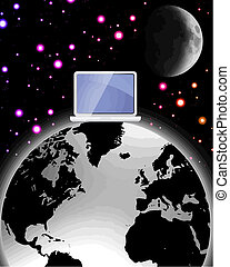 Vector de la web del mundo surrealista