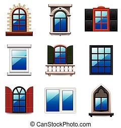 Vector de las ventanas