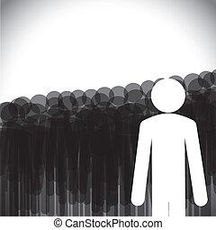 vector de liderazgo - gerente de dirección a empleados
