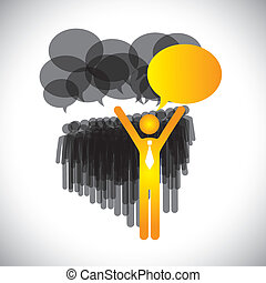 vector de liderazgo - gerente  ⁇  discusión de empleados