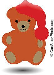 Vector de lindo oso marrón