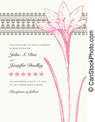 Vector de lirios rosados