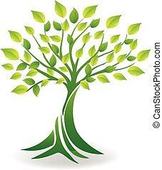 Vector de logo de árbol de ecología