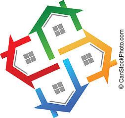 Vector de logo de bienes raíces