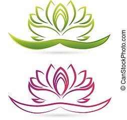 Vector de logo de flor de loto