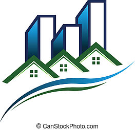 Vector de logo de la comunidad inmobiliaria