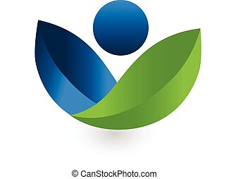 Vector de logo de la naturaleza sana