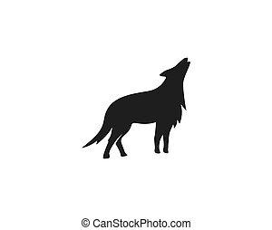 Vector de logo de lobo