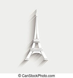 Vector de logo de torre Eiffel.