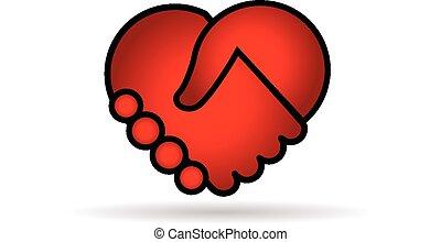 Vector de logo del corazón rojo