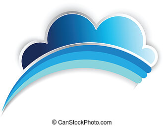 Vector de logotipo arco iris