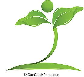 Vector de logotipo de salud natural