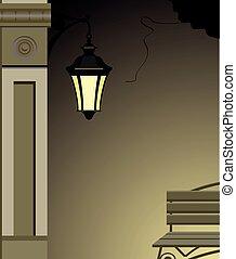 Vector de luz de la calle