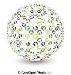 vector de manos Globe.