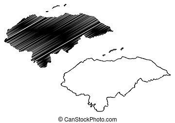 vector de mapa de Honduras