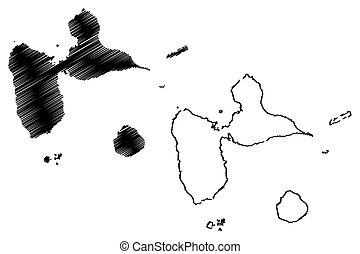 Vector de mapa Guadalupe