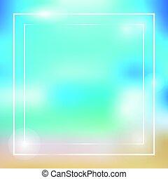 Vector de marco colorido