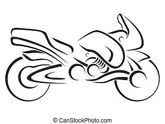 Vector de motocicletas estilizado ilustrado