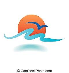 Vector de olas marinas
