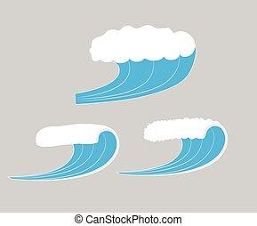 Vector de ondas marinas