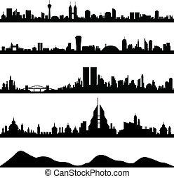 Vector de paisajes de la ciudad