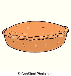 Vector de pastel
