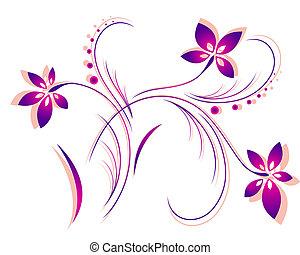 Vector de patrones de flores