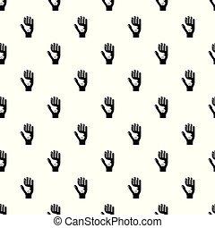 Vector de patrones de mano sin costura