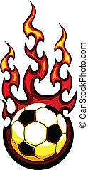 Vector de pelota de fútbol