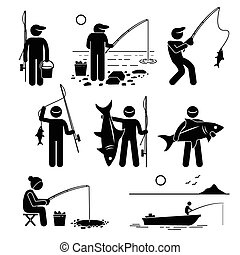 Vector de pesca
