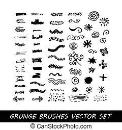 Vector de pinceladas grunge
