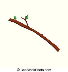Vector de rama de árbol