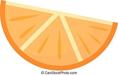 Vector de rebanada naranja