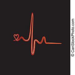 Vector de ritmo cardíaco