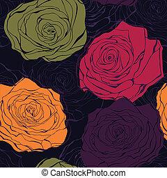 Vector de rosas colorido sin marcas
