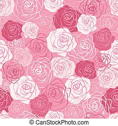 Vector de rosas sin costura.