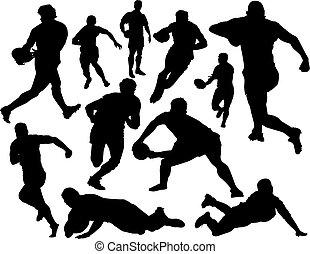 Vector de rugby listo