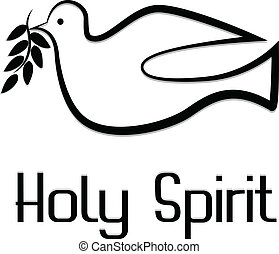 Vector de símbolo de espíritu santo