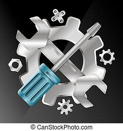 Vector de símbolos de servicio