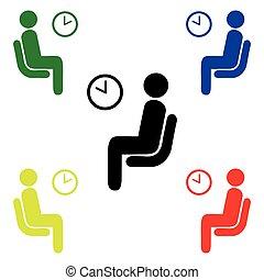 Vector de sala de espera