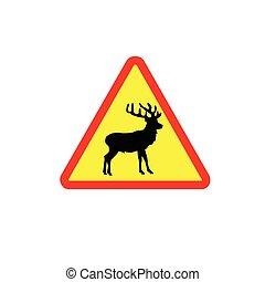 Vector de señales de ciervo en color