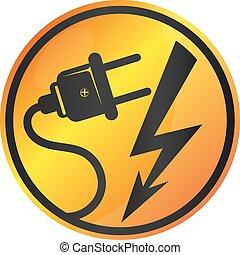 Vector de señales de electricidad