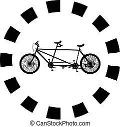 Vector de silueta de bicicleta