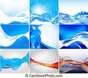 Vector de sitio web abstracto fijado