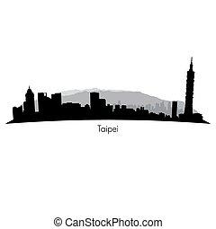 Vector de Taipei horizonte