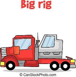 Vector de transporte de camiones