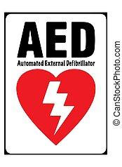 Vector de una etiqueta roja con forma de corazón y rayos