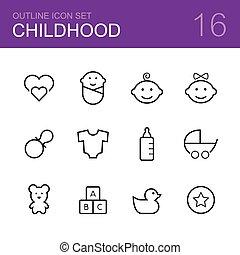 Vector de vectores infantiles, marca icono